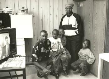 Übergangsheim für Flüchtlinge, Marienheide, 1993. Familie aus Zaire